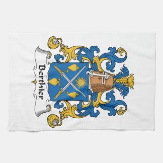 Escudo de la familia de Berthier Toallas De Mano