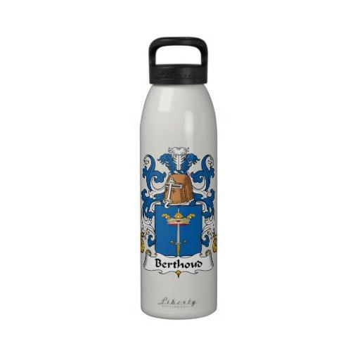 Escudo de la familia de Berthoud Botella De Agua Reutilizable