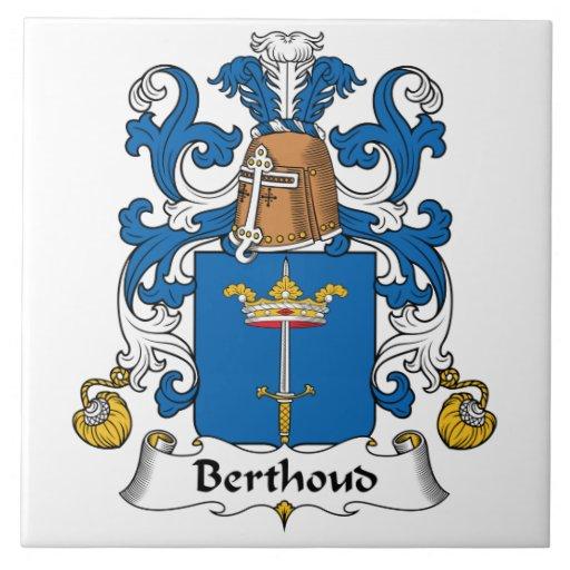 Escudo de la familia de Berthoud Azulejo Cerámica