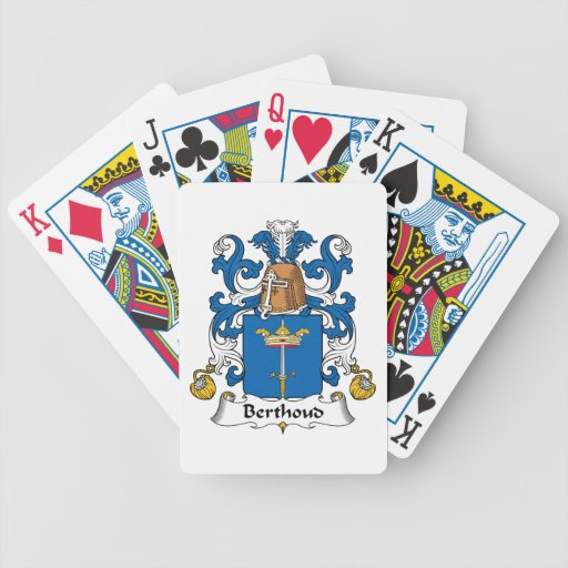 Escudo de la familia de Berthoud Baraja Cartas De Poker