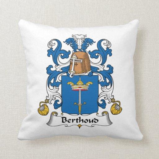 Escudo de la familia de Berthoud Almohada