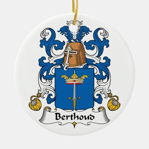 Escudo de la familia de Berthoud Adorno De Navidad