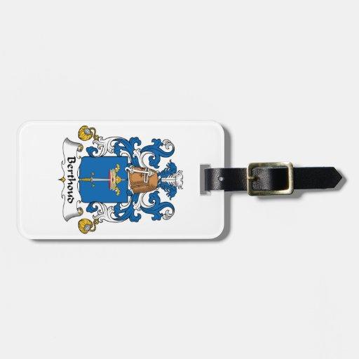 Escudo de la familia de Berthoud Etiquetas Para Maletas
