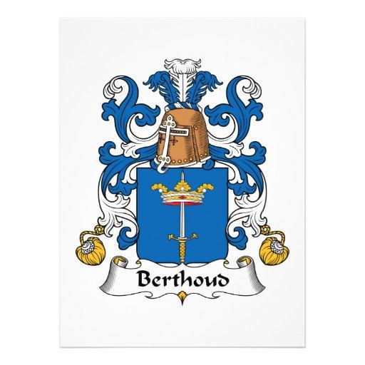Escudo de la familia de Berthoud Comunicados Personalizados