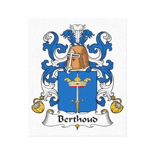Escudo de la familia de Berthoud Lienzo Envuelto Para Galerías