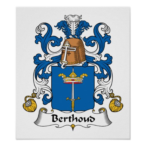 Escudo de la familia de Berthoud Posters