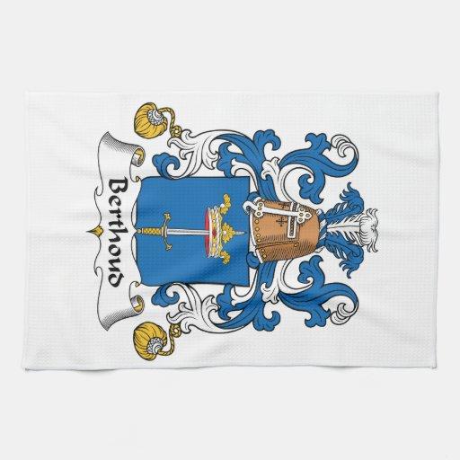 Escudo de la familia de Berthoud Toallas De Cocina