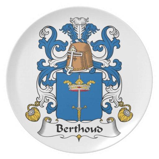 Escudo de la familia de Berthoud Platos