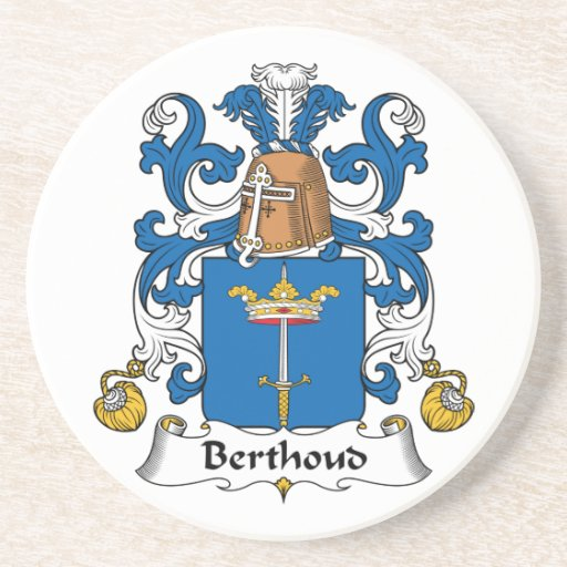 Escudo de la familia de Berthoud Posavasos Cerveza