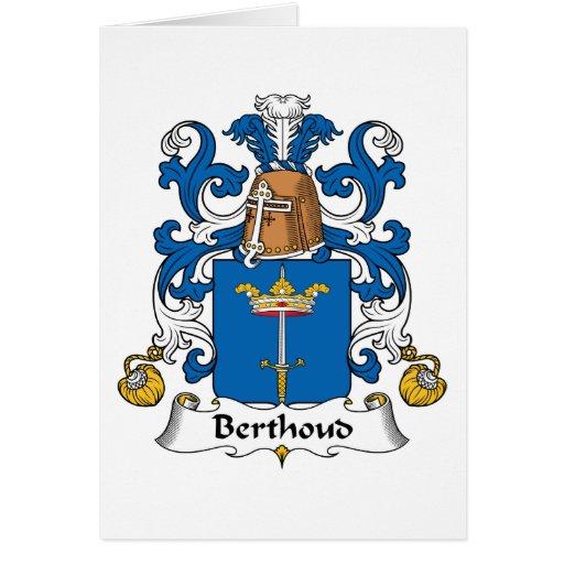 Escudo de la familia de Berthoud Tarjetas