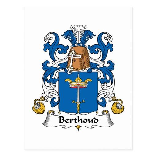Escudo de la familia de Berthoud Tarjetas Postales