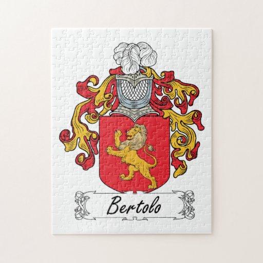 Escudo de la familia de Bertolo Rompecabeza Con Fotos