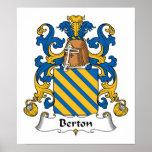 Escudo de la familia de Berton Poster