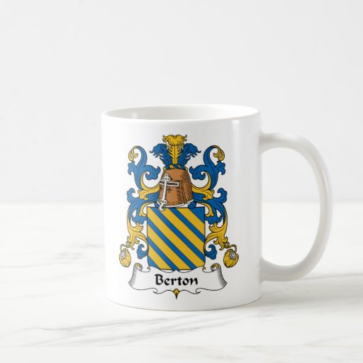 Escudo de la familia de Berton Taza De Café