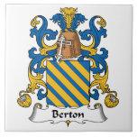 Escudo de la familia de Berton Teja Ceramica