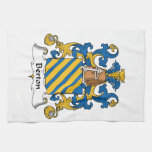 Escudo de la familia de Berton Toalla De Mano