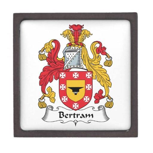 Escudo de la familia de Bertram Cajas De Regalo De Calidad