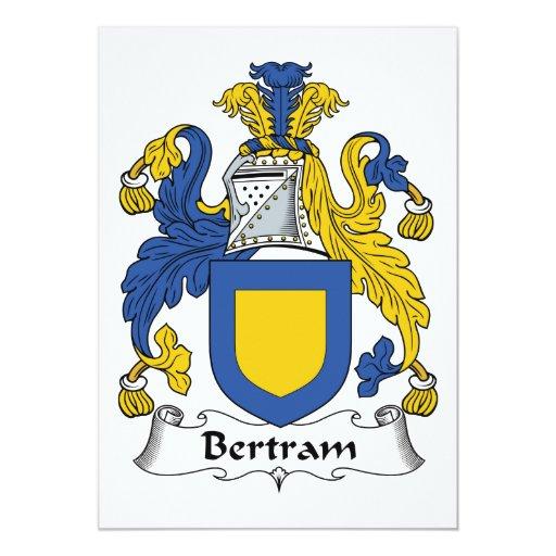 Escudo de la familia de Bertram Comunicado Personal