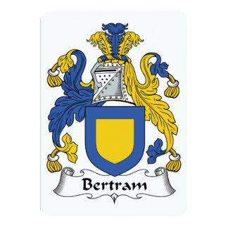 """Escudo de la familia de Bertram Invitación 5"""" X 7"""""""