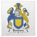 Escudo de la familia de Bertram Servilletas Imprimidas