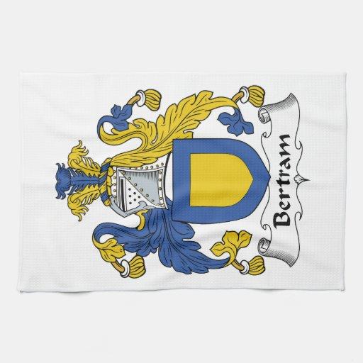 Escudo de la familia de Bertram Toalla De Mano