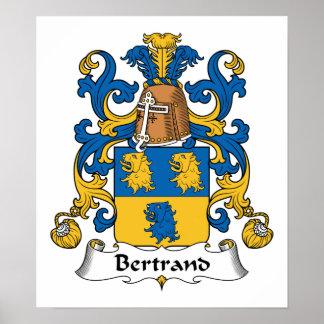 Escudo de la familia de Bertrand Póster
