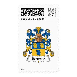 Escudo de la familia de Bertrand Sellos Postales
