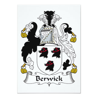 Escudo de la familia de Berwick Invitación 12,7 X 17,8 Cm