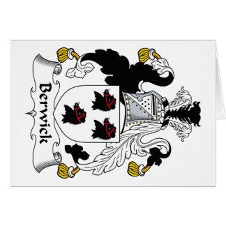 Escudo de la familia de Berwick Tarjetón