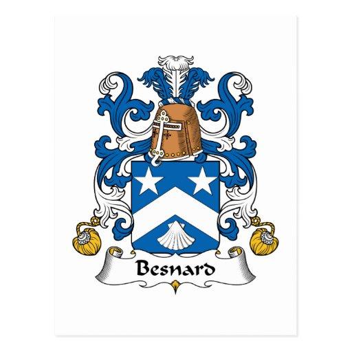 Escudo de la familia de Besnard Tarjeta Postal