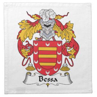 Escudo de la familia de Bessa Servilletas
