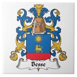 Escudo de la familia de Besse Azulejo Cuadrado Grande