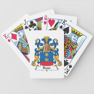 Escudo de la familia de Besse Baraja Cartas De Poker