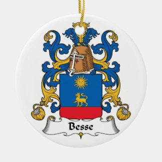 Escudo de la familia de Besse Adorno Redondo De Cerámica