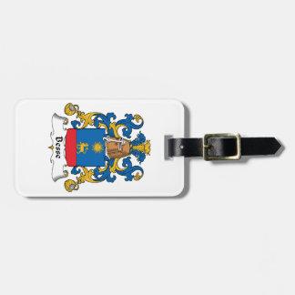 Escudo de la familia de Besse Etiqueta Para Equipaje
