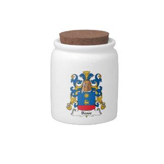 Escudo de la familia de Besse Tarro De Cerámica Para Dulces