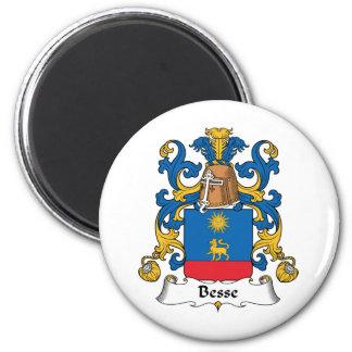 Escudo de la familia de Besse Imán Redondo 5 Cm