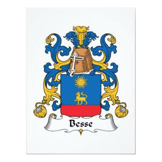 """Escudo de la familia de Besse Invitación 6.5"""" X 8.75"""""""