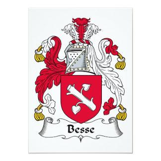 """Escudo de la familia de Besse Invitación 5"""" X 7"""""""