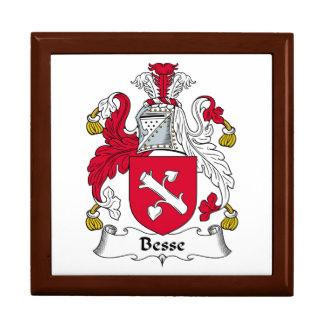 Escudo de la familia de Besse Joyero Cuadrado Grande