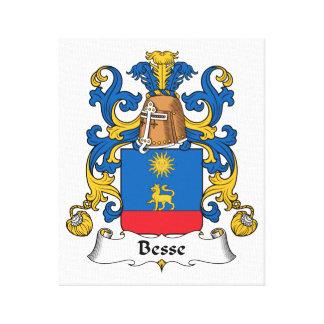 Escudo de la familia de Besse Lienzo Envuelto Para Galerías