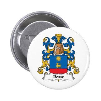Escudo de la familia de Besse Pin Redondo 5 Cm