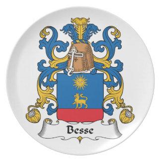 Escudo de la familia de Besse Platos
