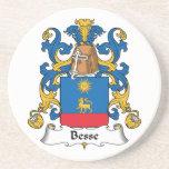 Escudo de la familia de Besse Posavasos Para Bebidas