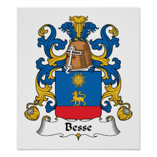 Escudo de la familia de Besse Póster
