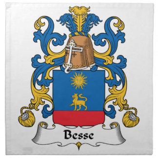 Escudo de la familia de Besse Servilletas
