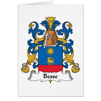 Escudo de la familia de Besse Tarjeta De Felicitación