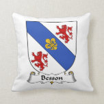 Escudo de la familia de Besson Cojines