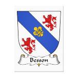 Escudo de la familia de Besson Lona Estirada Galerias