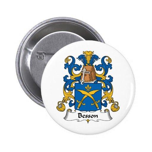 Escudo de la familia de Besson Pin Redondo 5 Cm